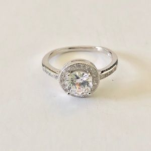 1.4 Carat Cubic Zirconia Sterling Silver Ring